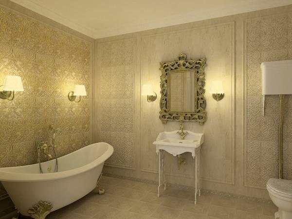 klasik tarzda banyo apliği, fotoğraf 23
