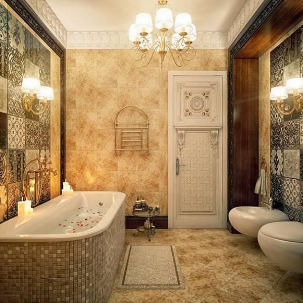klasik tarzda banyo tasarımı, fotoğraf 3