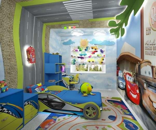 7 yaşında bir çocuk için çocuk odasının içi, fotoğraf 12