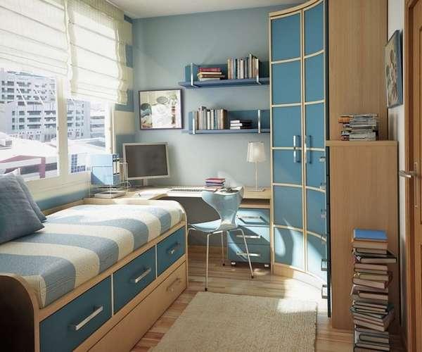 bir okul çocuğu için bir çocuk odasının içi, fotoğraf 14