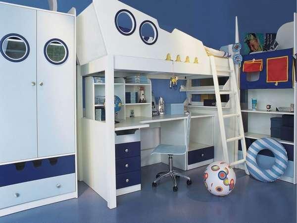 7 yaşında bir çocuk için çocuk odasının içi, fotoğraf 16