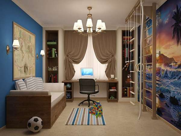 bir erkek çocuk odası için iç fikirler, fotoğraf 19