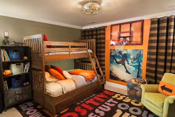 farklı yaşlardaki erkekler için bir çocuk odasının içi, fotoğraf 25