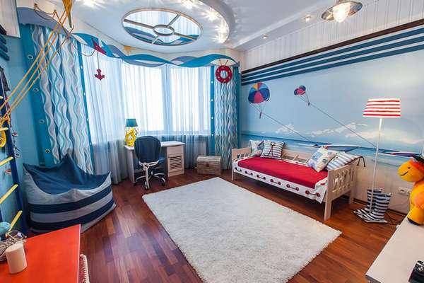 5 yaşında bir erkek çocuk için bir çocuk odasının içi, fotoğraf 6