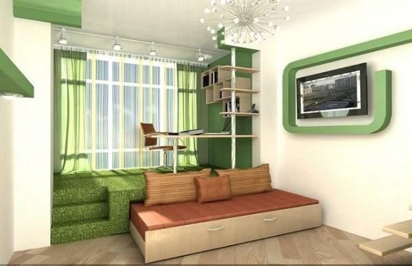tek odalı küçük bir dairenin tasarımı, fotoğraf 16