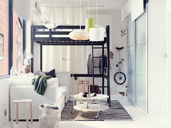 küçük tek odalı bir dairenin iç tasarımı, fotoğraf 34