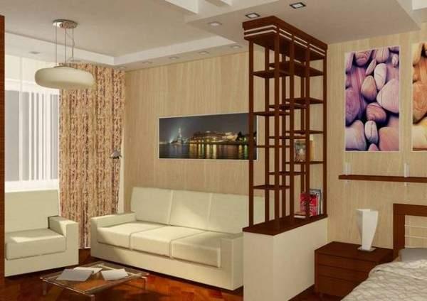 küçük tek odalı bir dairenin iç tasarımı, fotoğraf 21