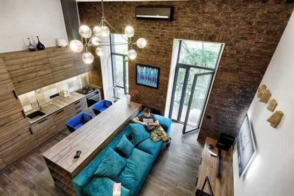 küçük tek odalı bir dairenin iç tasarımı, fotoğraf 22