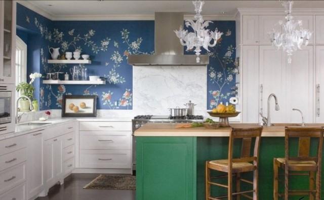 Provence çiçek duvar kağıdı