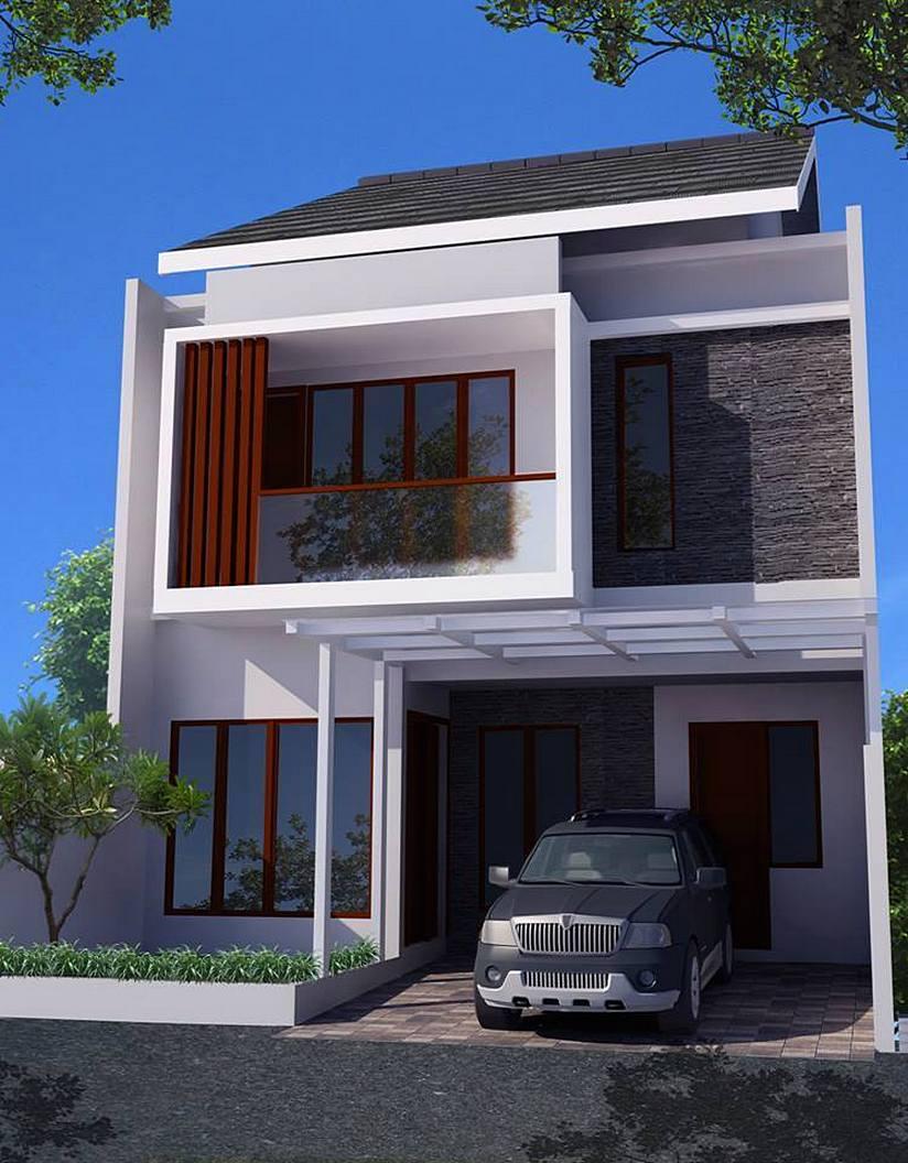36 Desain Rumah Minimalis 2 Lantai Sederhana 2018  Dekor