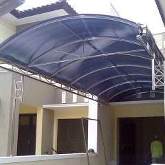 Kanopi Baja Ringan Atap Kaca 23 Model Terbaru Rumah Minimalis 2020 ...