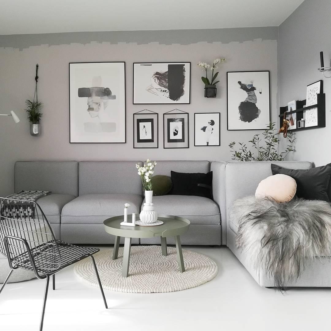 Dekorasi Ruang Tamu Grey  Desainrumahidcom