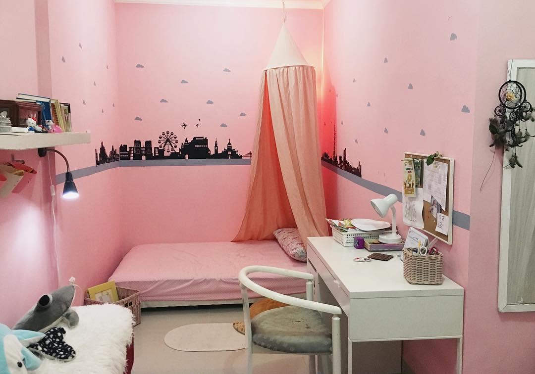 17 Desain Kamar Tidur Warna Pink Minimalis Terbaru 2019