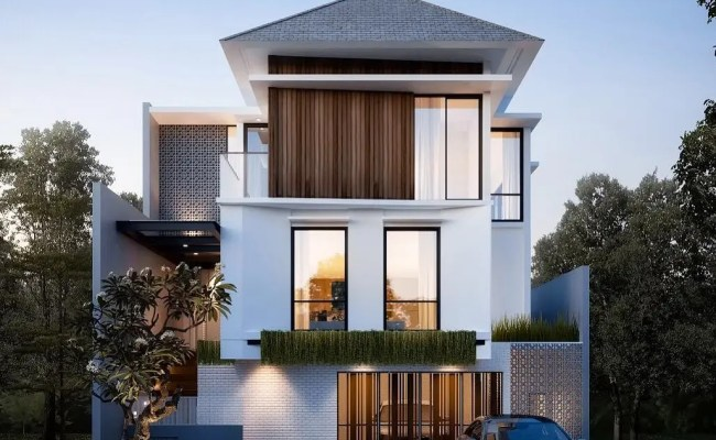 12 Model Rumah Minimalis 2 Lantai Tampak Depan Terbaru 2020 Kumpulan Dekorasi Cute766