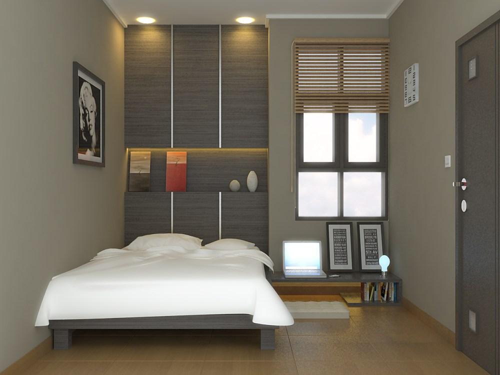 mendekorasi kamar dengan penempatan tempat tidur