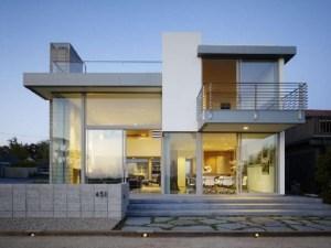 Desain Eksterior Rumah Minimalis 2 Lantai