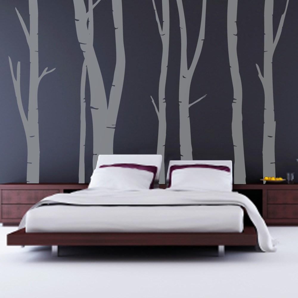 kamar tidur wallpaper batang pohon