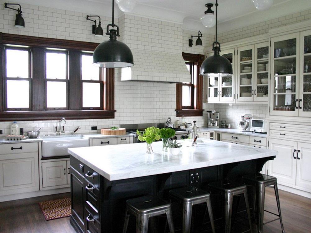 Ruangan Kontras Desain Dapur Kecil