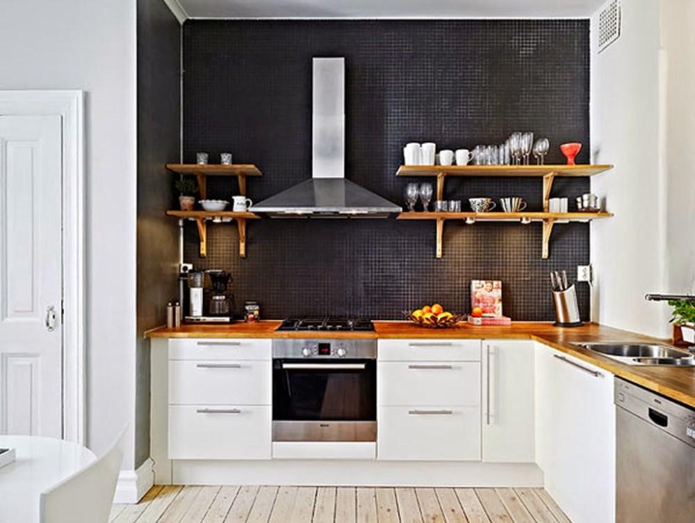 10 desain rumah minimalis sederhana favorit istri for Kitchen black wall