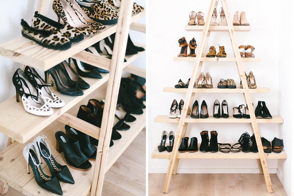Rak Sepatu Model Segitiga
