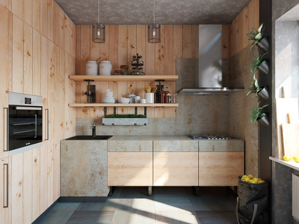Dapur Minimalis Ukuran 2x3 Natural