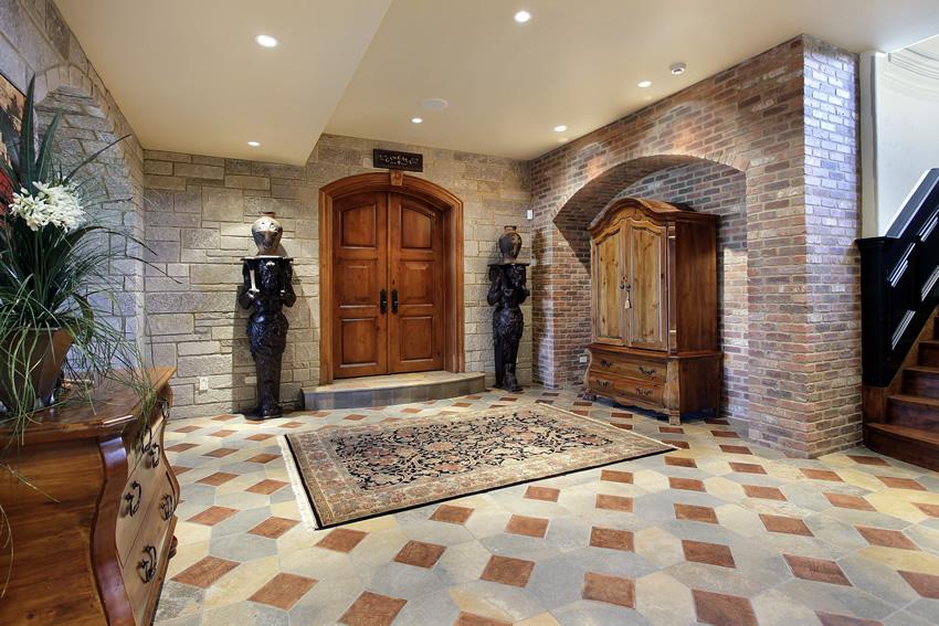 Keramik Batu Alam Foyer Rumah