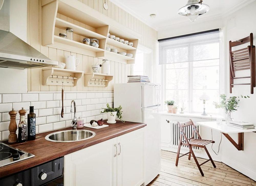 Kitchen Set Mini Bergaya Parisian yang Chic