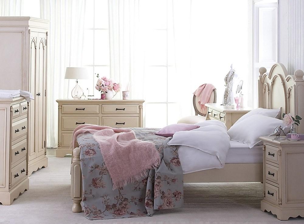 Ruang Tidur Rumah Shabby Chic