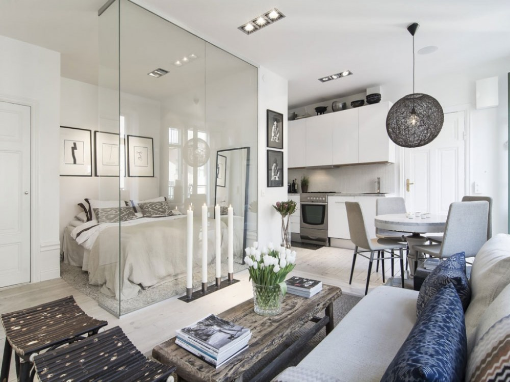 Desain Apartemen Studio Eksklusif