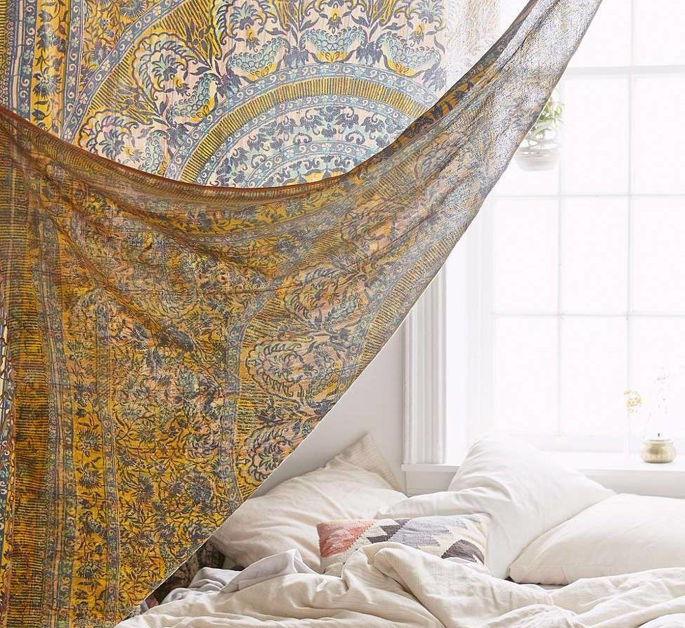 dekorasi kamar jendela mandala tapestry