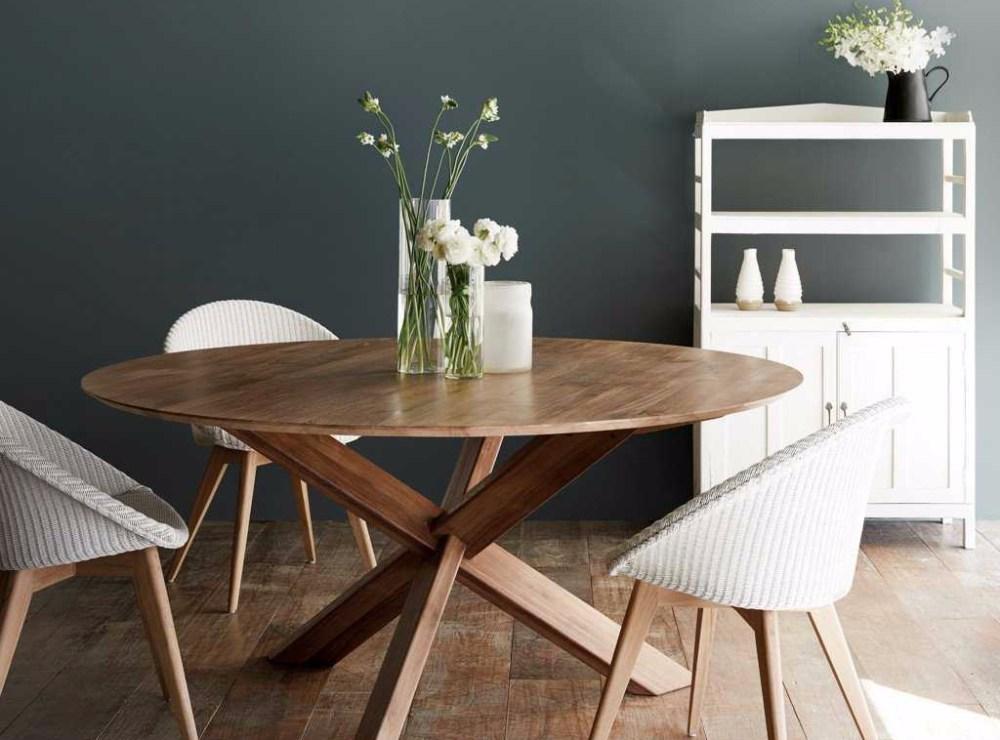 meja makan bundar ruang makan