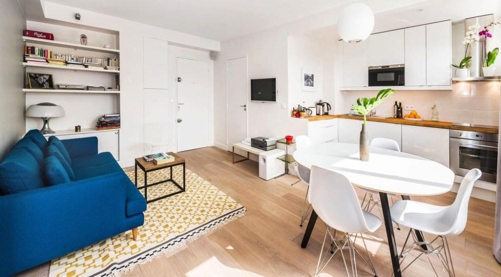 Desain Dapur Kecil Menghadap Ruang Keluarga