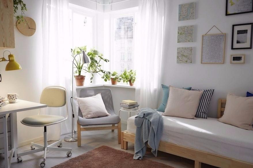 Dinding berwarna cerah sebagai dekorasi rumah sederhana
