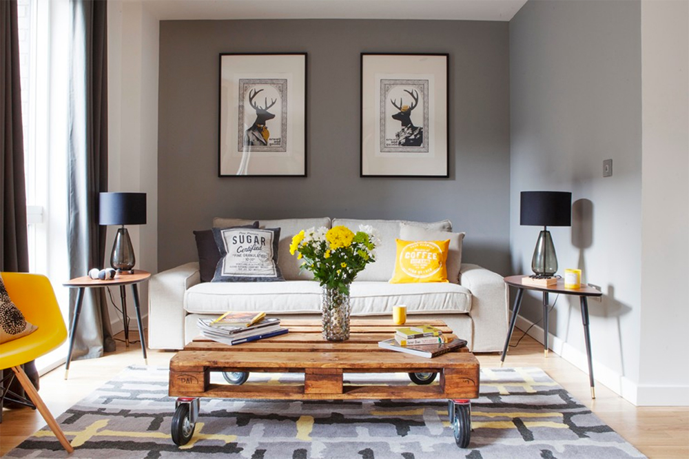 furniture is symmetrical as a simple home decorating form
