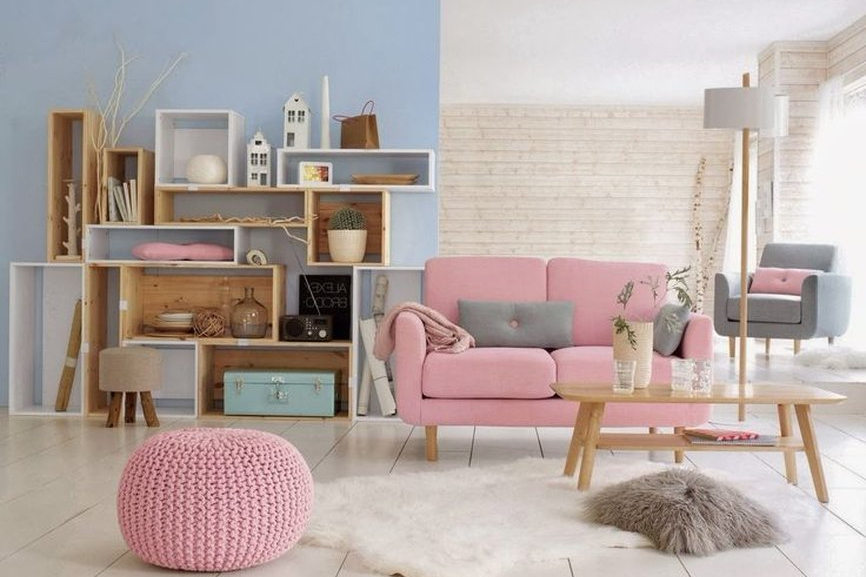rumah sederhana dan elegan cat pastel