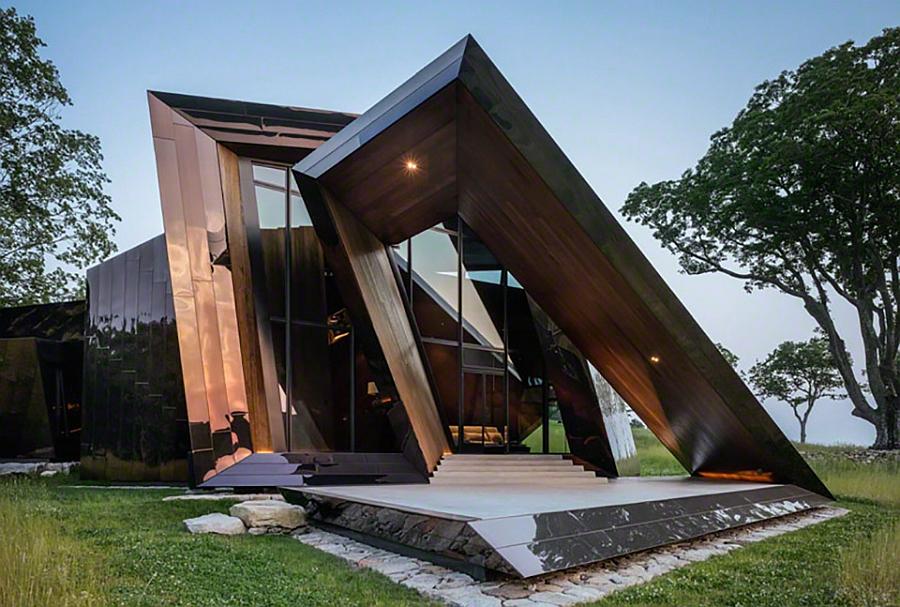 rumah tingkat minimalis scuptural house