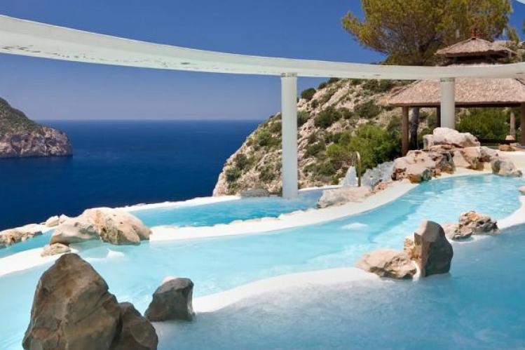 Kolam Renang Hacienda Na Xamena Ibiza Hotel Pool