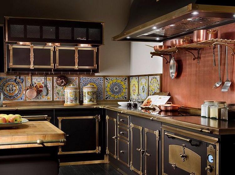 Desain dapur minimalis bentuk L bergaya Victorian