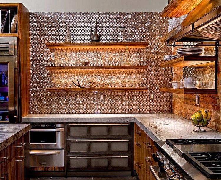 Desain dapur minimalis bentuk L yang berkilau