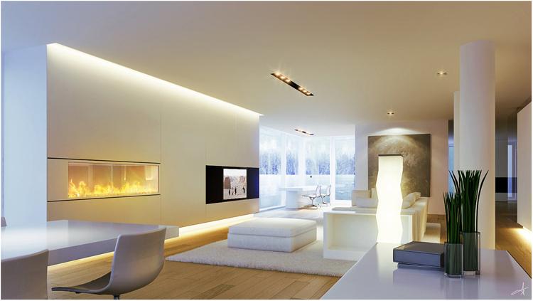arsitektur rumah minimalis pencahayaan