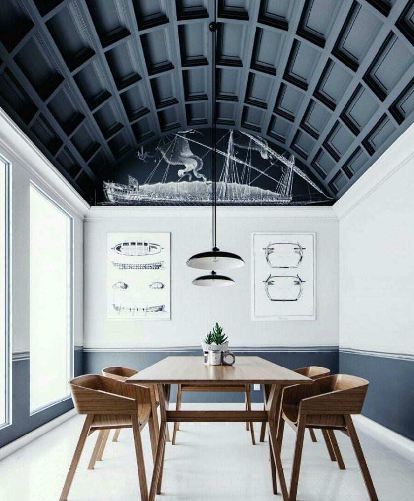 Model Plafon Ruang Tamu Barrel Vault Ceiling