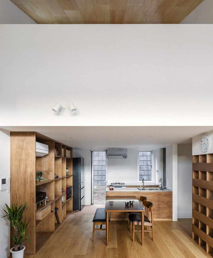 Dapur bersih ala Jepang dinding beton