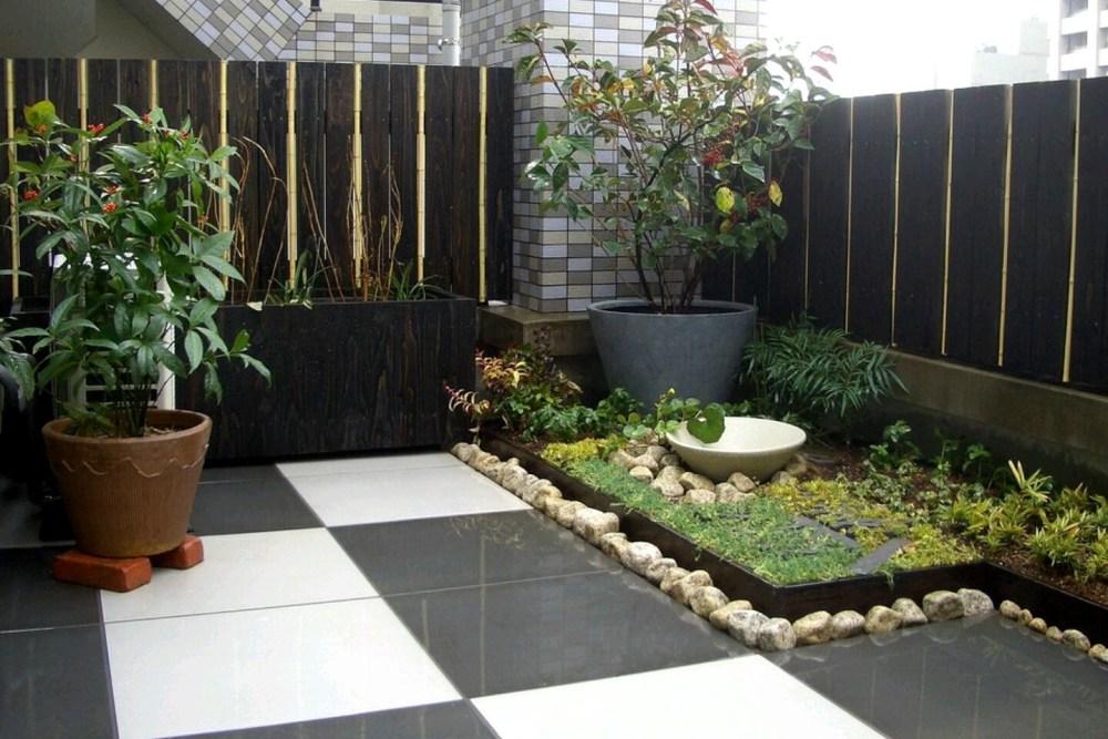Desain Taman Minimalis Lahan Sempit Teras Tanaman