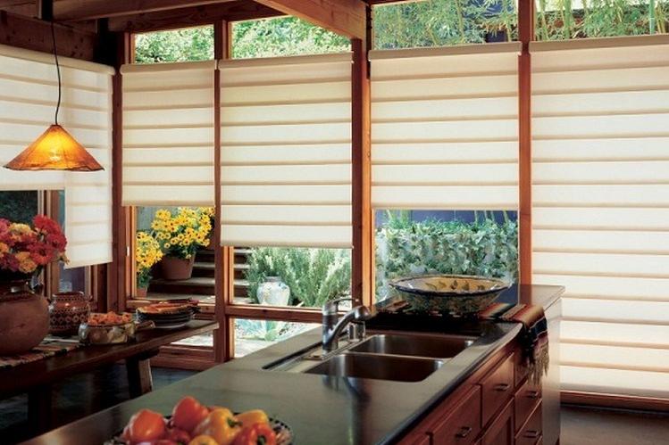 Dapur bersih dengan jendela kertas