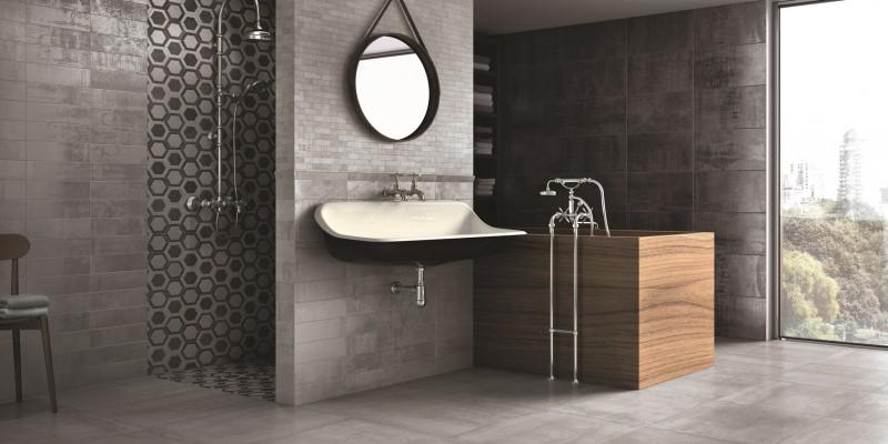 keramik lantai kamar mandi logam