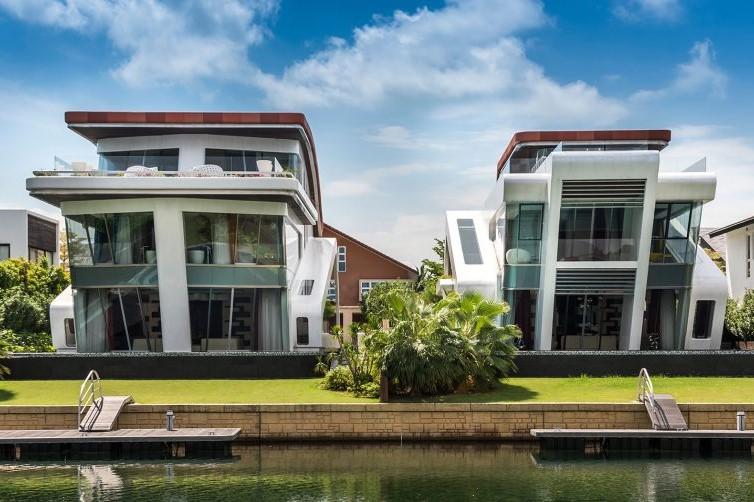 rumah minimalis terbaru geometris futuristik