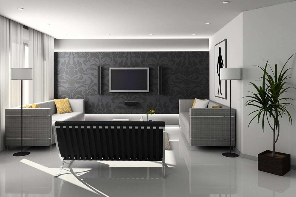 rumah minimalis terbaru monokrom