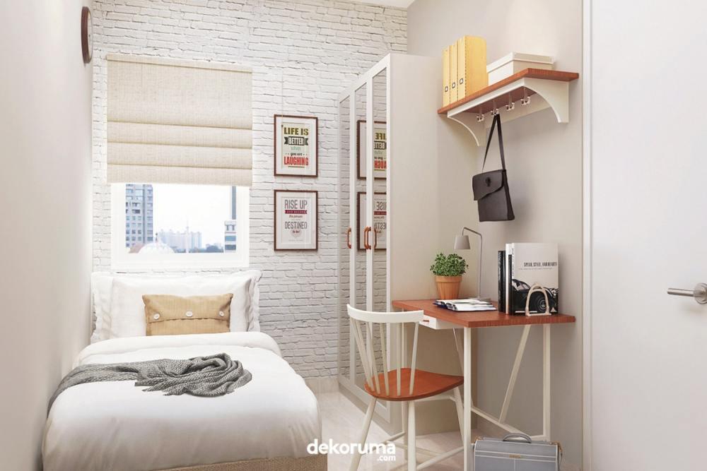 Terapkan tema interior kamar serba putih