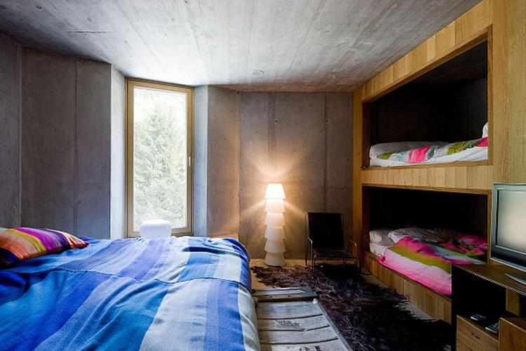 Interior Rumah Bawah Tanah Switzerland's Villa Vals