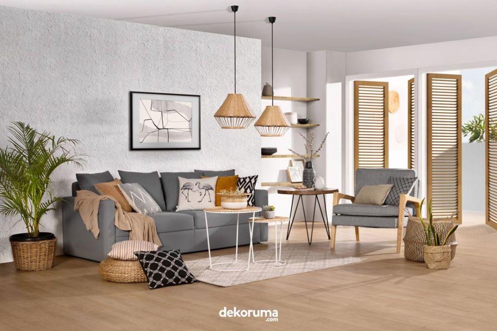 Desain Rumah Ruang Tamu Natural